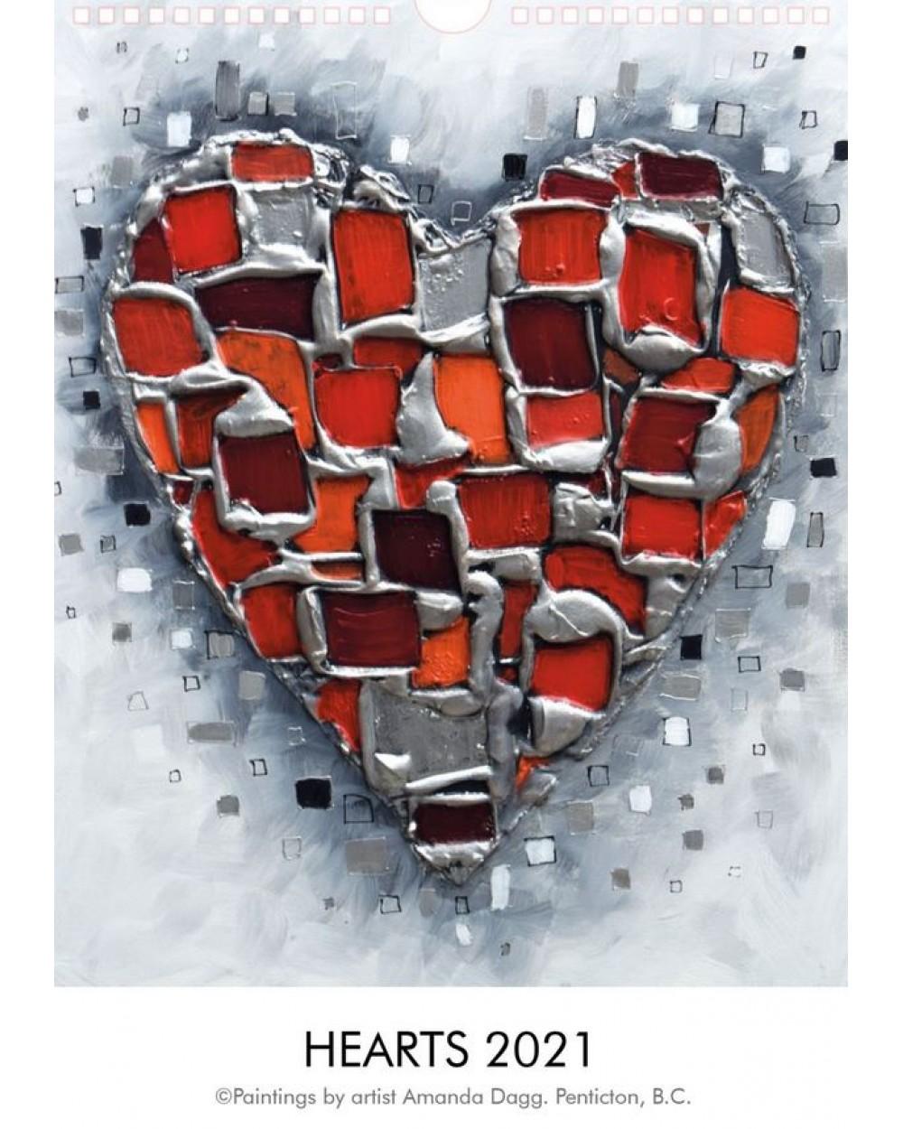 2021 Calendar of Hearts