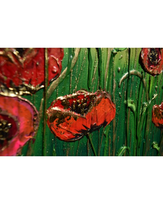 Golden Kissed Poppies