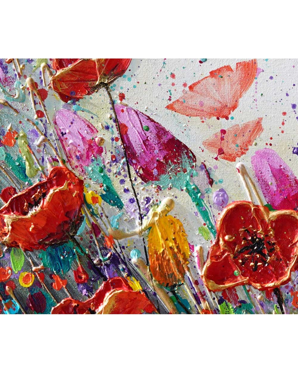 Dancing Tulips and Poppies