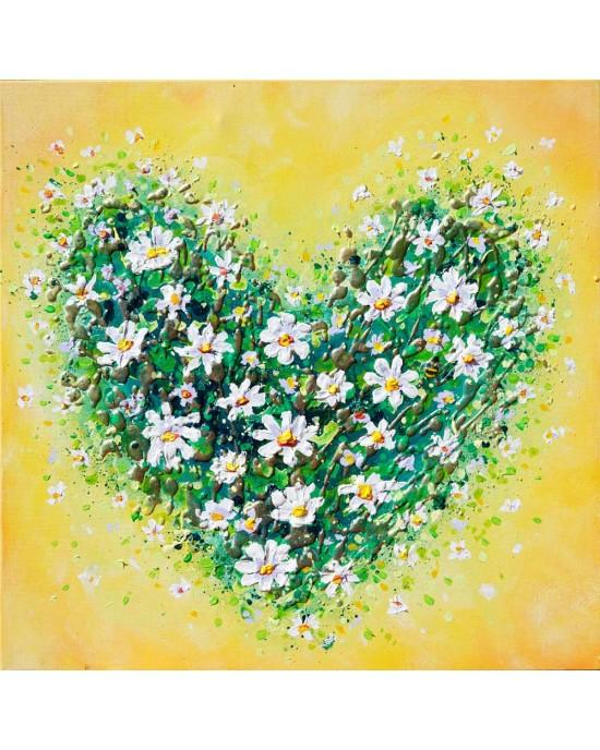 Happy Daisy Heart