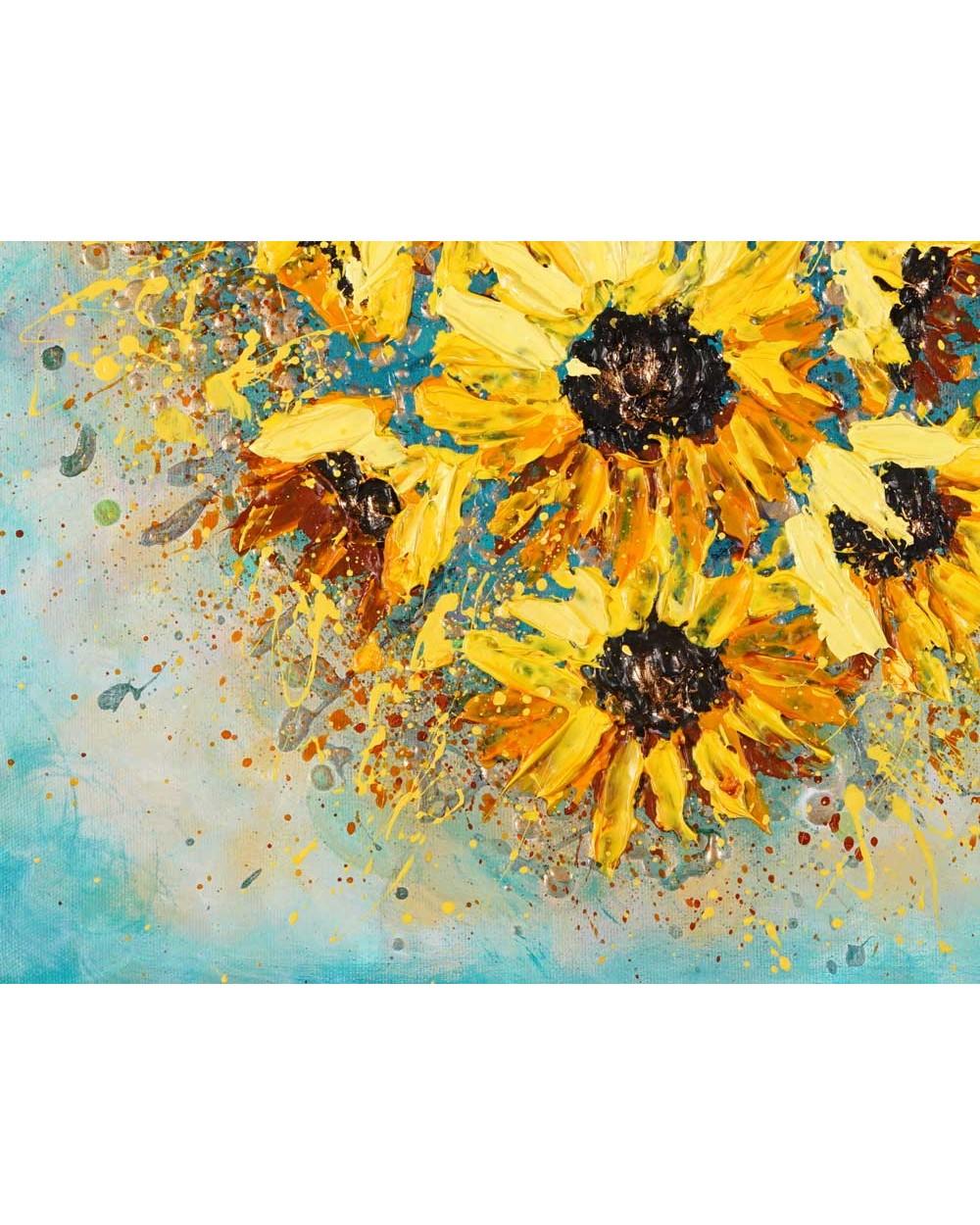 Bursting Sunflower Heart