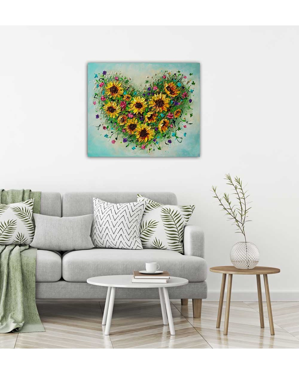 Blooming Heart of Sunflowers
