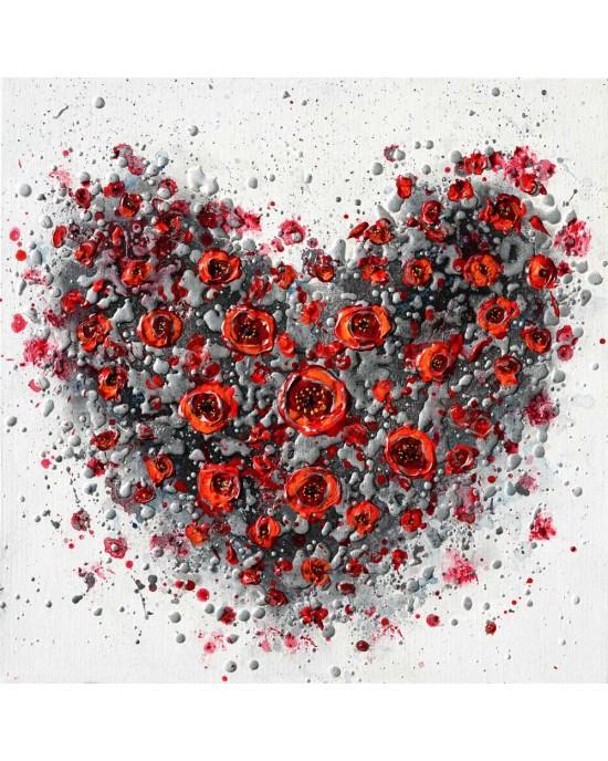 Red Poppy Heart