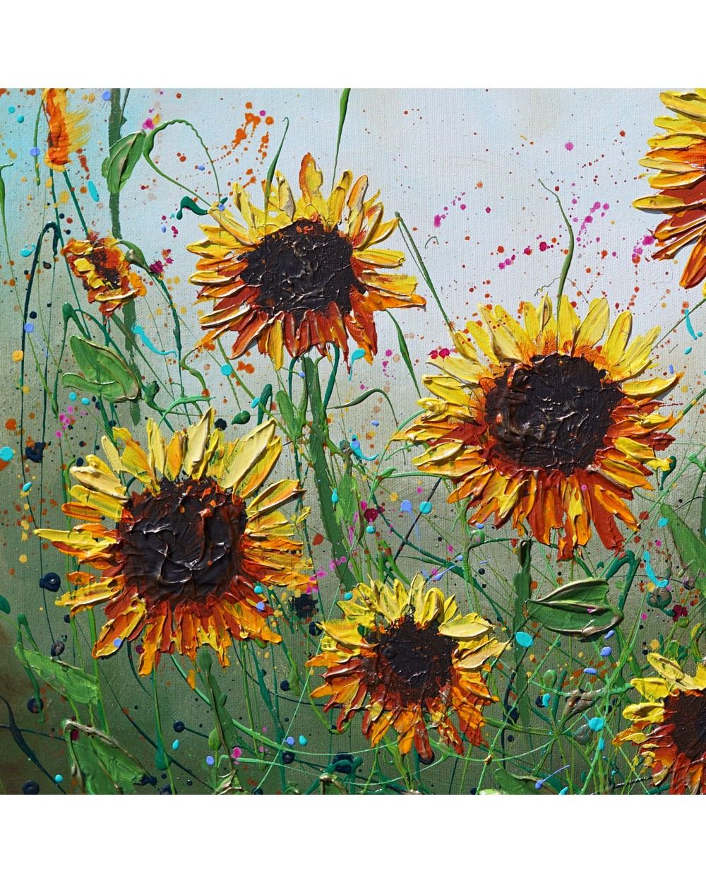 Blossoming Sunflowers