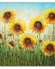 Sunflowers Basking in the Sun