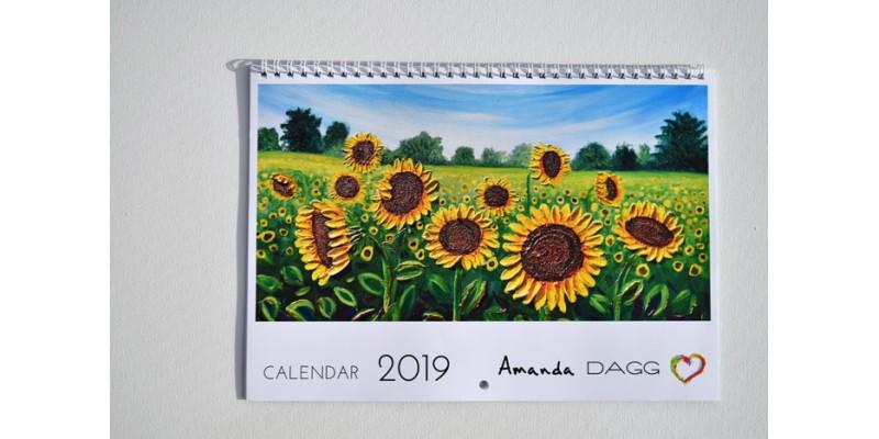 2019 Calendar of paintings