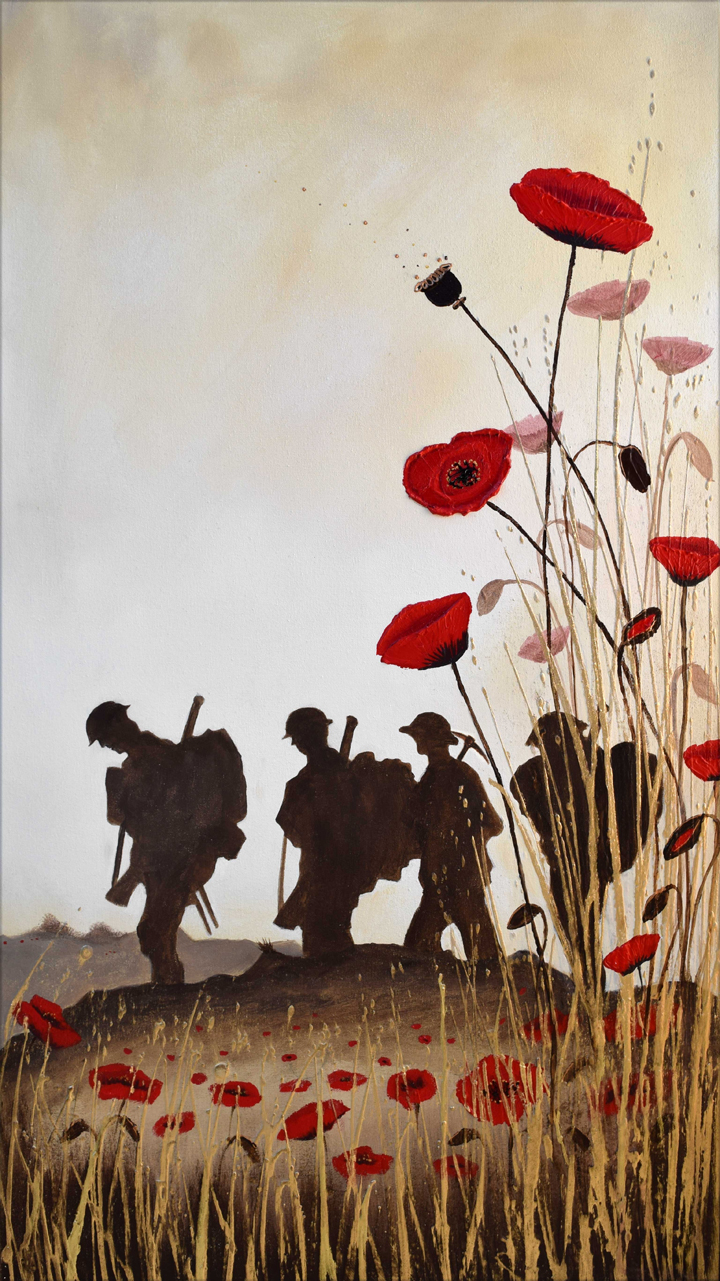 Lest We Forget WW1 soldier commission Sep 205