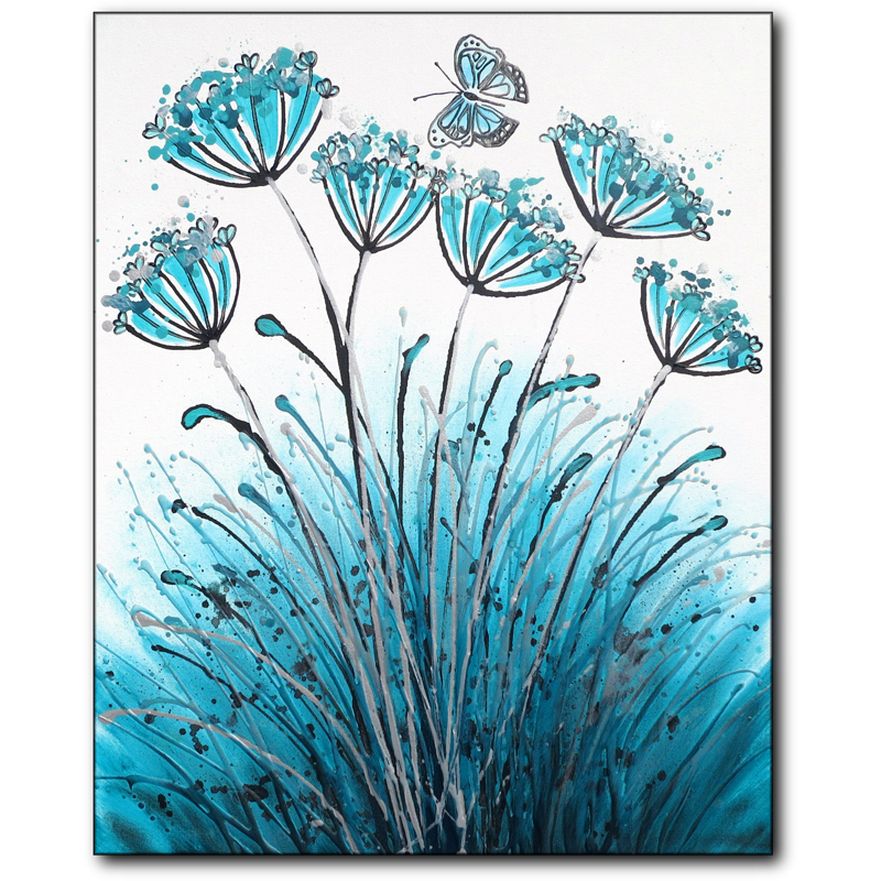 Teal Allium Flutter