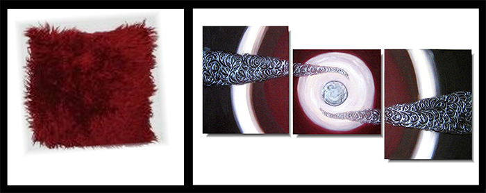 burgundy abstract painting